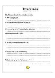 English Worksheets: wh exercises