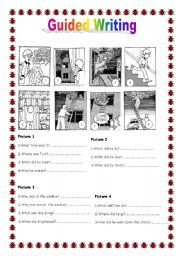 English Worksheets: Guided writing N� 5