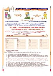 English Worksheet: PAST PERFECT EXERCISES