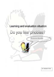 English Worksheet: do you fear phobias resource booklet