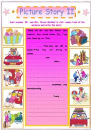 English Worksheet: Writing : A Picture Story   (  II  )