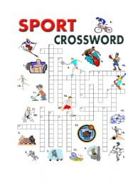English Worksheet: SPORT CROSSWORD
