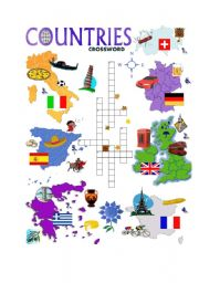 COUNTRIES CROSSWORD