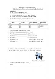 English worksheet: Adjectives – Comparative Form