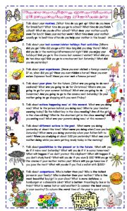 English Worksheet: Conversation Questions for Elementary Students
