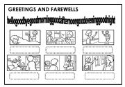 English Worksheet: GREETING AND FAREWELLS