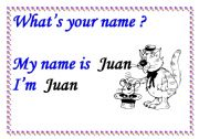 English worksheet: WHAT´S YOUR NAME? SIGN
