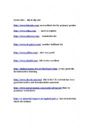 English Worksheets: websites