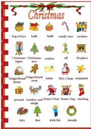 English Worksheets: Christmas Vocabulary