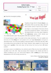Viva Las vegas! Reading for Upper Elementary or Lower Intermediate students