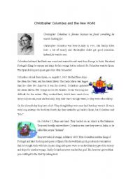 Christopher Columbus - story and activities