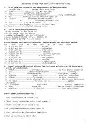 when while exercises worksheet pdf