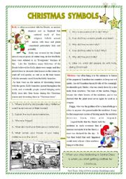 English Worksheet: Christmas symbols: plants