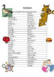 English Worksheets: Plurals