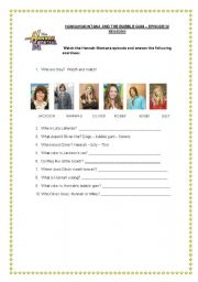 English Worksheet: Activity about Hannah Montana Sitcom