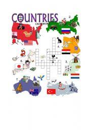 worksheet: COUNTRIES CROSSWORD - PART 2