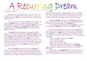 English Worksheets: A Recurring Dream
