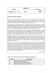 English Worksheets: Globalization - Test