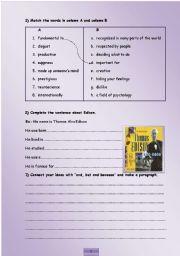 English Worksheets: vocabulary- writing