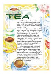 English Worksheet: Reading: tea