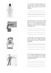 English Worksheets: Introducing Yourself - Jumbled words