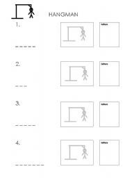 image about Printable Hangman named Hangman worksheets
