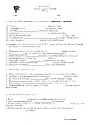 English Worksheets: Revision for advanced students