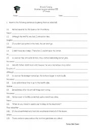 English Worksheets: Revision for advanced students 2