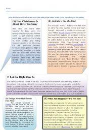 English Worksheets: Choosing the right film