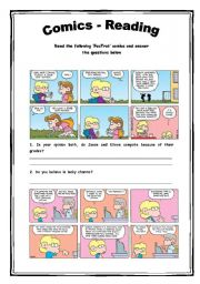 English Worksheets: Comics - Reading Activity 6