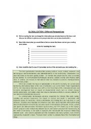 English Worksheets: globalization/Technology