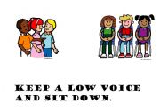 English Worksheets: keep a low voice