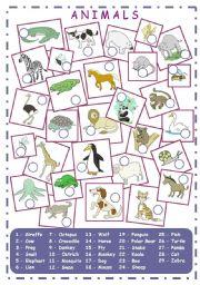 English Worksheet: Animals (2/2)