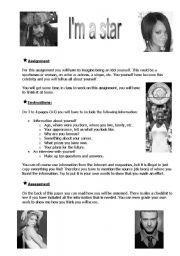 English Worksheets: I�m star