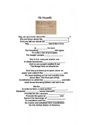 english worksheets the preamble schoolhouse rock cloze passage. Black Bedroom Furniture Sets. Home Design Ideas