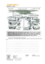 English Worksheet: Murphy´s Law for storm chasers - Conditional 1.