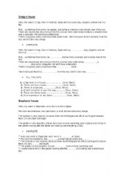 English Worksheets: reading and comprehension with also easy exercises