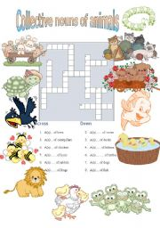 English Worksheets: Collective nouns of animals