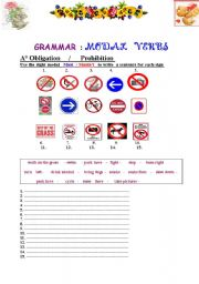 English Worksheet: Complete worksheet about modals ( obligation- prohibition- permission - polite request- advice - ability )