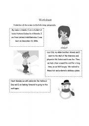 English Worksheets: Proper Nouns Worksheet
