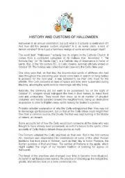 history and customs of halloween worksheet by inha16. Black Bedroom Furniture Sets. Home Design Ideas