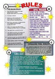 English Worksheets: HOLIDAY RULES