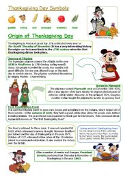 English Worksheets: THANKSGIVING DAY
