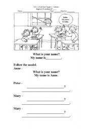 English Worksheets: Hello...