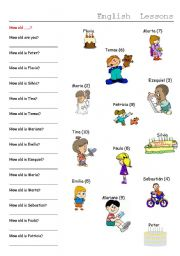 English Worksheets: HOW OLD