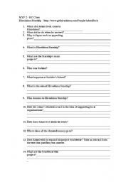 English Worksheets: activity about social responsibility