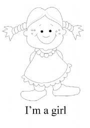 English Worksheets: I�m a girl