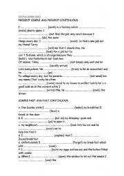English teaching worksheets: Verb tenses
