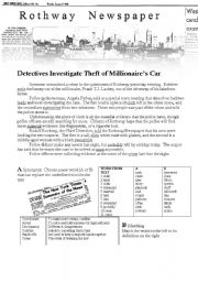 English Worksheet: Rothway Detectives are On the Case