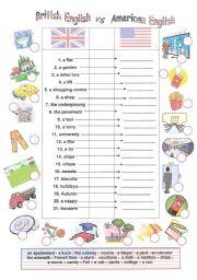 English worksheets American
